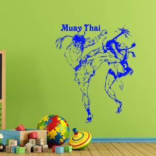 Wandtattoo Muay Thai Boxen Kampf Sport
