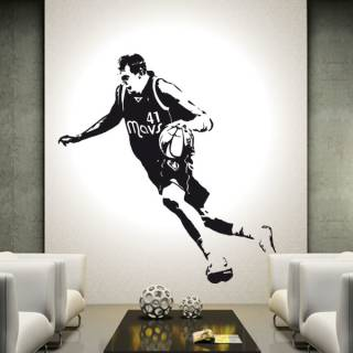 Wandtattoo Aufkleber Basketball Dirk Nowitzki