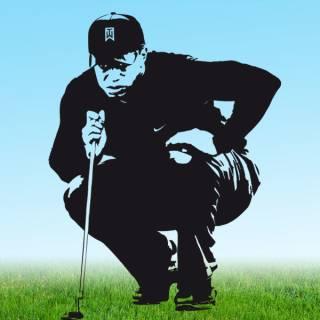 Wandtattoo Golf Tiger Woods