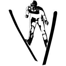 Wandtattoo Ski Springer Wintersport