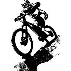 Wandtattoo Aufkleber Downhill Biking Dirt Sport
