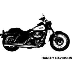 Wandtattoo Harley Davidson Chopper XXL