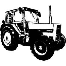 Wandtattoo Traktor Eicher 4048 Kinderzimmer Wallprint