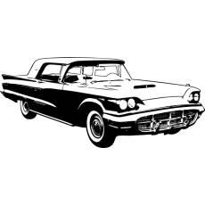 Wandtattoo Auto Ford Thunderbird 1960