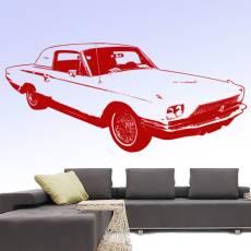 Wandtattoo Auto Ford Thunderbird 1966