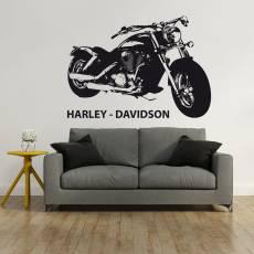 Wandtattoo Harley Davidson Chopper Motorrad