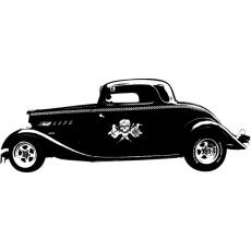 Wandtattoo Motor Auto Hot Rod Tattoo