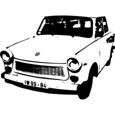 Wandtattoo DDR Kult Trabant Trabbi