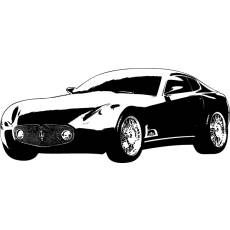 Wandtattoo Maserati Coupe Auto