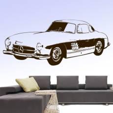 Wandtattoo Auto Mercedes SLK Oldtimer