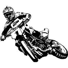 Wandtattoo Supermoto 1 Motorrad PS Motocross