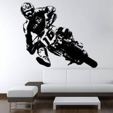Wandtattoo Supermoto 2 Motorrad PS Motocross