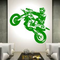 Wandtattoo Supermoto 3 Motorrad PS Motocross