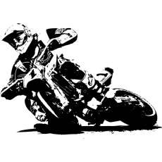 Wandtattoo Supermoto 4 Motorrad Motocross