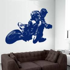 Wandtattoo Supermoto 6 Motorrad Motocross