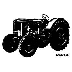 Wandtattoo Traktor Deutz Schlepper Trecker