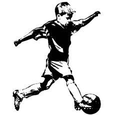 Wandtattoo Deko Fussball Spieler Junge Nachwuchs