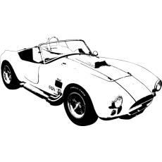 Wandtattoo Auto Shelby AC 427 Cobra