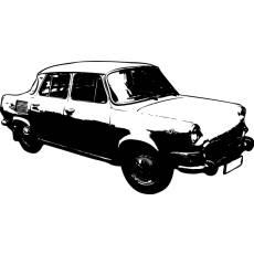 Wandtattoo Auto Skoda MB100 DDR