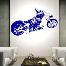 Wandtattoo Custom Chopper Solid-Works-Bike