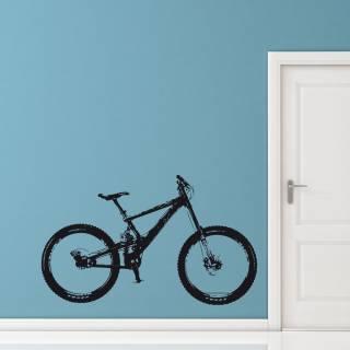 Wandtattoo Fahrrad Downhill Dirtbike