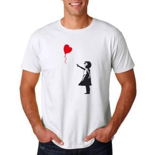 T-Shirt Fanshirt BANKSY Mädchen Herz Luftballon