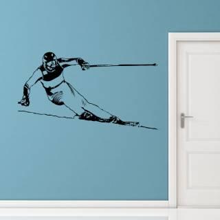 Wandtattoo Ski Fahrer Wintersport