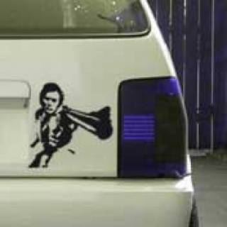 Dirty Harry Pistole Sticker Tattoo Auto Aufkleber