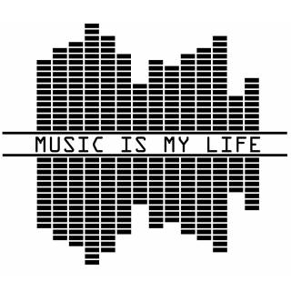 Wandtattoo Music is my life