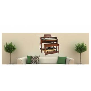 Wandtattoo Wallprint Musical Instruments Hammond Organ