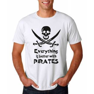Funshirt Everything is better with Pirates Nerdshirt