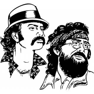 Wandtattoo Film Cheech und Chong