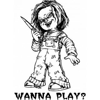 Wandtattoo Film Chucky Wanna Play Horror