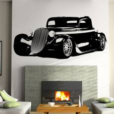 Wandtattoo Motiv Motor Hot Rod 33