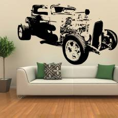 Wandtattoo Motiv Motor Hot Rod 333