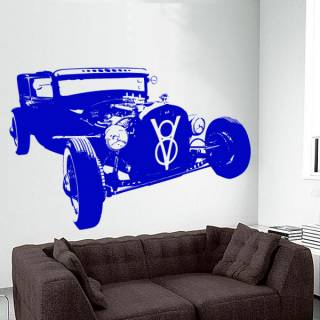Wandtattoo Motiv Motor Hot Rod V8