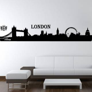 Wandtattoo Skyline London Silhouette