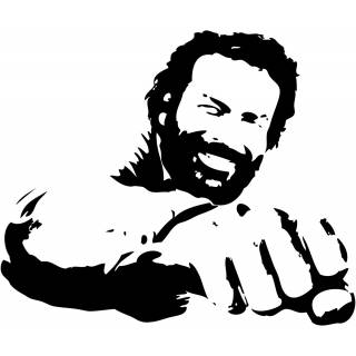 Wandtattoo Film Bud Spencer Western