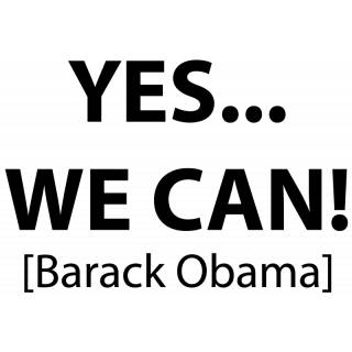 Wandtattoo Zitat Obama Yes We Can