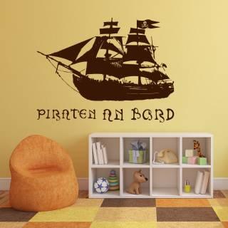 Wandtattoo Schiff Seeräuber Karibik - Nr.1 Piraten an Bord