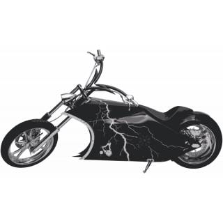 Wandtattoo Wandaufkleber Wallprint Hybrid Custom Chopper