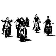 Wandtattoo Motorrad Rocker Easy Rider