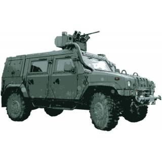 Wandtattoo Wandaufkleber Wallprint Iveco Light Multirole Vehicle