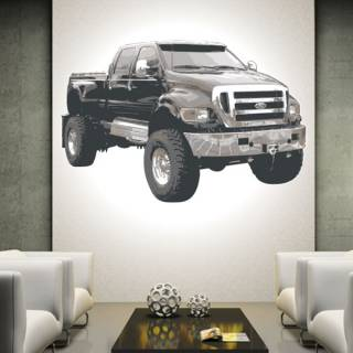Wandtattoo Wandaufkleber Wallprint Pick up Ford T3
