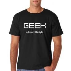 """Funshirt  """"GEEK - a binary lifestyle"""" Nerdshirt"""