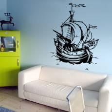 Kinderzimmer Kinder Wandtattoo Piraten Schiff Karibik - Nr.2