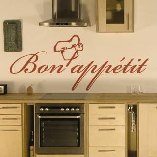 """Wandtattoo Küche """"Bon appetit"""""""