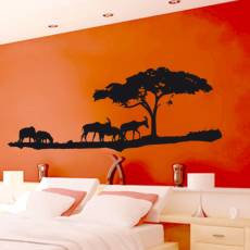 Wandtattoo Afrika 2 Antilopen Savanne