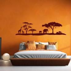 Wandtattoo Afrika Elefant Giraffe Löwe