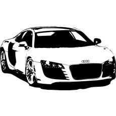 Wandtattoo Audi R8 Auto Motor Sport 120cm
